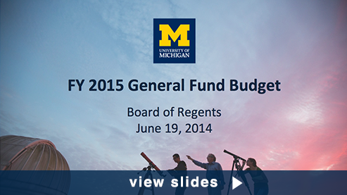 Budget presentation graphic