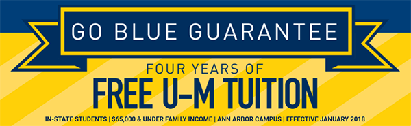 Go Blue Guarantee banner